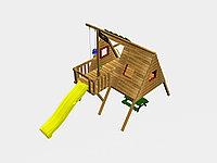 """Игровой комплекс """"Тако"""", с канатной лестницей, качелями, скалодромом, фото 1"""