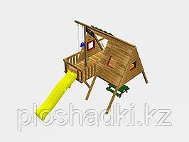 """Игровой комплекс """"Тако"""", с канатной лестницей, качелями, скалодромом"""