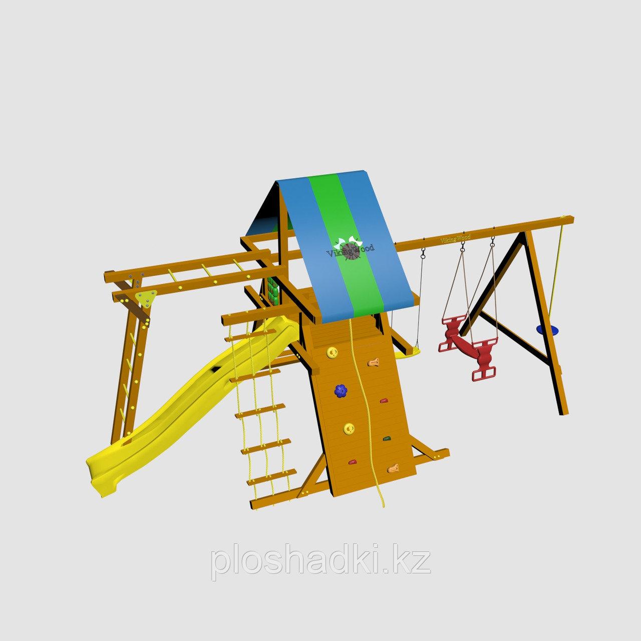 """Игровой комплекс """"Анкона Дуэт"""", с крышей, лестницами, скалодромом, горкой"""
