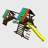 """Игровой комплекс """"Мадагаскар"""", цветная крыша, штурвал, качели-гнездо, горки, фото 1"""