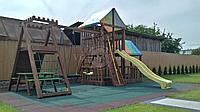 """Игровой комплекс """"Спайдер"""", домик, качеля, горка, цветная крыша,деревянная лестница, фото 1"""