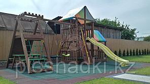 """Игровой комплекс """"Спайдер"""", домик, качеля, горка, цветная крыша,деревянная лестница"""