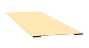 Стыковочная планка простая глянец 70х3000 мм