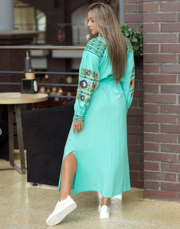 Платье Борщівські барви Д-88-3 поплин бирюза - фото 2