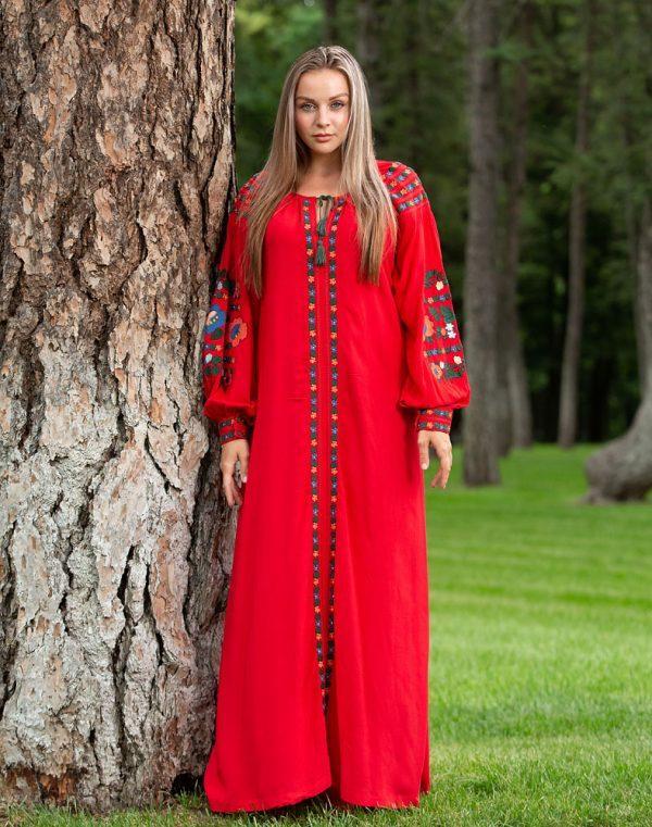 Платье Борщівські барви Д-88-3 поплин красный - фото 3