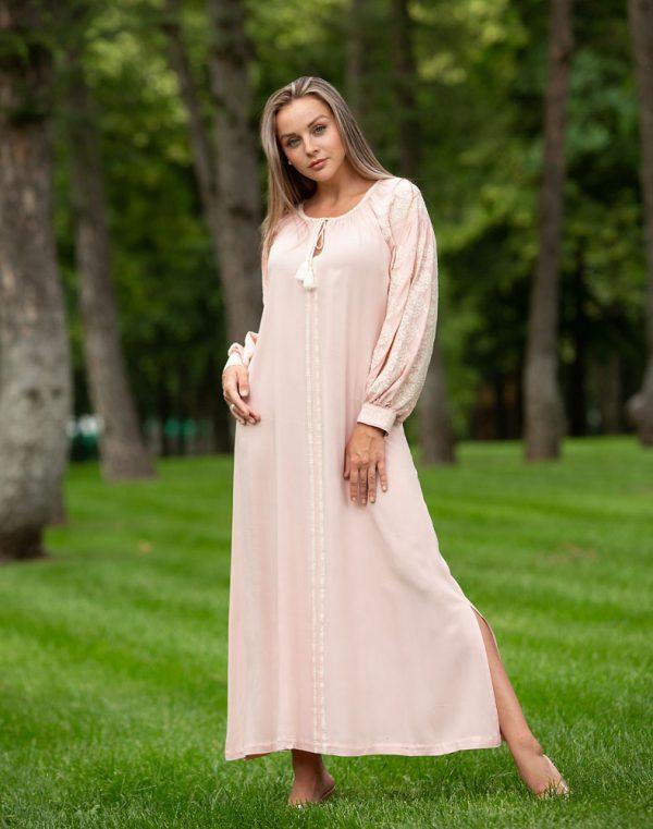 Платье Лілея поплин розовый - фото 2