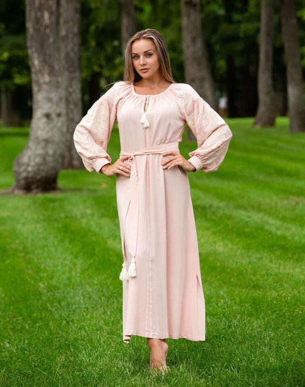 Платье Лілея поплин розовый - фото 1
