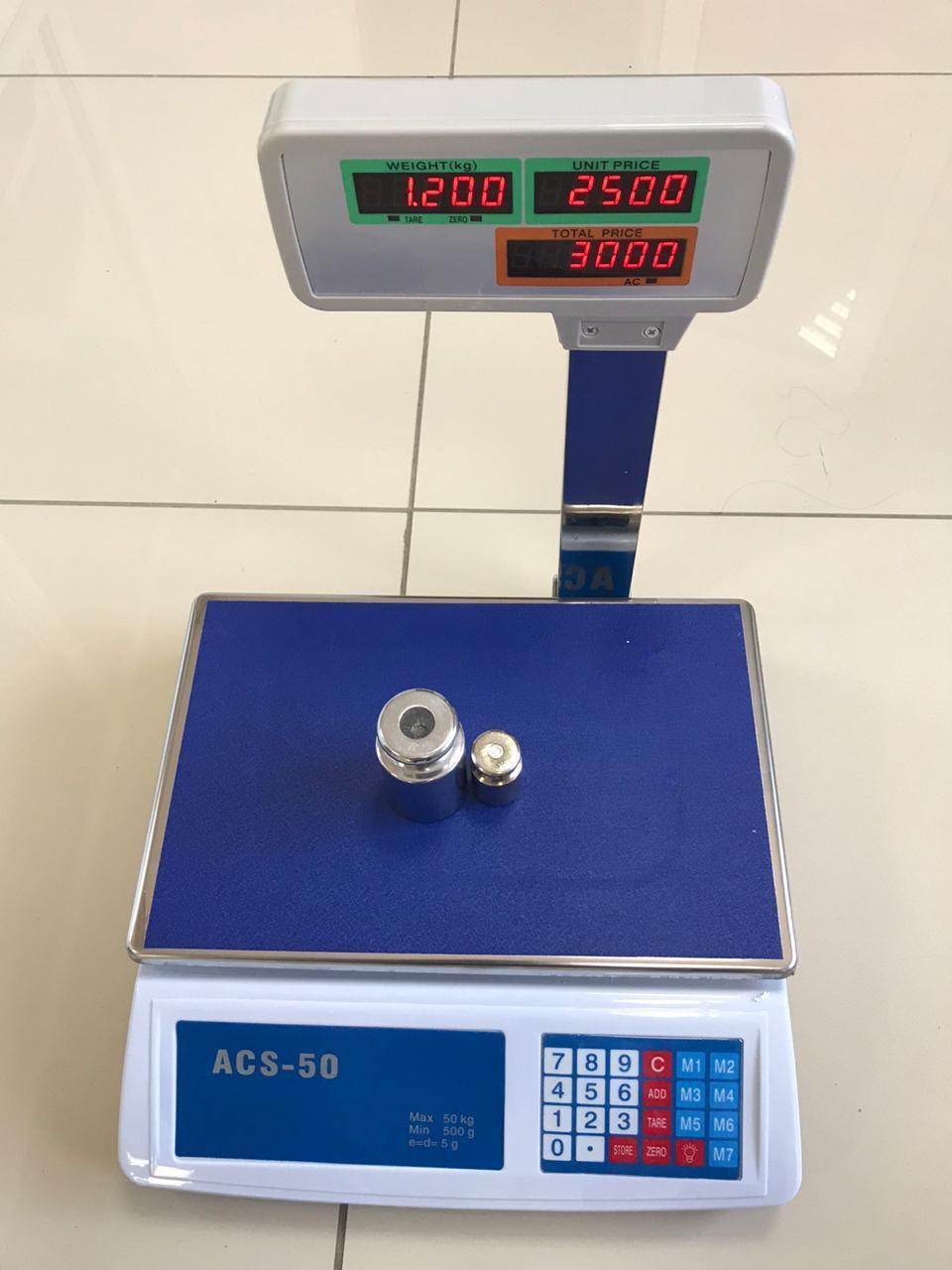 Весы электронные торговые со стойкой OCS-50 - фото 1