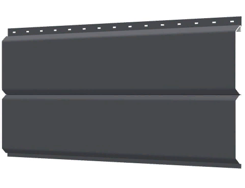 Металлосайдинг 240 мм RAL 7024 глянец Фасадная панель Europanel  Цена 550 тенге при заказе свыше 50 п.м