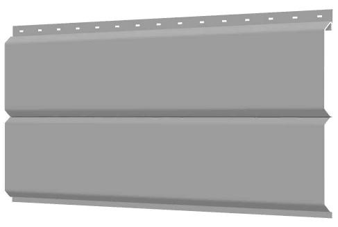 Металлосайдинг 240 мм RAL 7004 глянец Фасадная панель Europanel  Цена 1040 тенге при заказе свыше 50 п.м