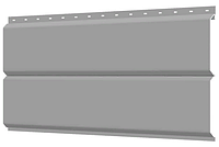 Металлосайдинг 240 мм RAL 7004 глянец Фасадная панель Europanel  Цена 740 тенге при заказе свыше 50 п.м