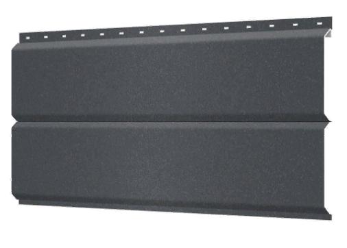 Металлосайдинг 240 мм RAL 7024 Матовый Europanel Цена 795 тенге при заказе свыше 50 п.м