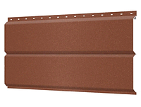 Металлосайдинг 240 мм RAL 8004 Матовый Фасадная панель Europanel Цена 1265 тенге при заказе свыше 50 п.м