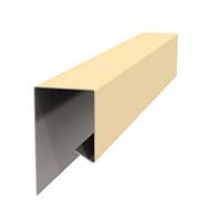 Начальная планка фасадной панели глянец  10x20x3000 мм