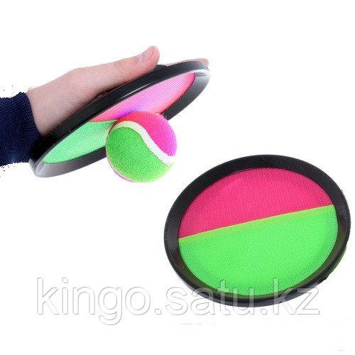Игра Тарелка липучка и теннисный мяч, Набор с тарелками-ловушками и мячиком, набор Поймай мяч