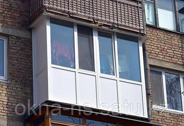 Изготовление и установка Металло-Пластиковых и алюминиевых балконов и лоджии - фото 1