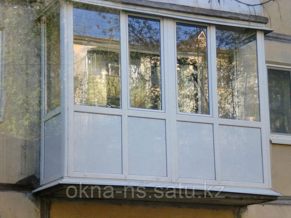 Изготовление и установка Металло-Пластиковых и алюминиевых балконов и лоджии - фото 2