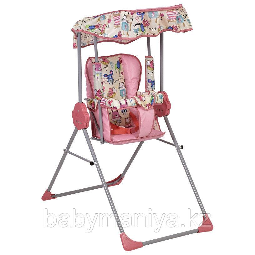 Качели детские Фея Малыш с тентом, розовый