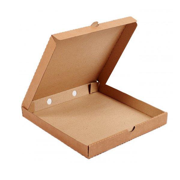 Коробка д/пиццы, 330х330х40мм, бурый, микрогофрокартон E, 50 шт