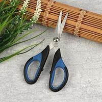 Ножницы для рукоделия, 5,5', 14 см, цвет чёрный/синий