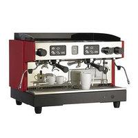 Кофемашина Gino GCM-322, 2 группы, 1 паровой кран, 240 чашек/ч, красный/серый