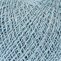 Нитки вязальные 'Снежинка сверкающая' 195м/25гр 86 хлопок, 14 люрекс цвет 1601 (комплект из 10 шт.)