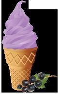 Сухая Смесь для мороженого Черная смородина