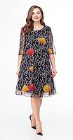 Платье Дали-4295, черный, 56