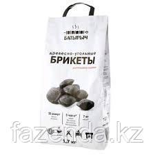 Уголь древесный в брикетах Батырыч, 1,7 кг