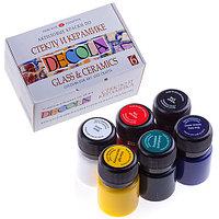 Краски акриловые DECOLA 06цв. 20мл стекло/керамика карт.уп. арт.4041026