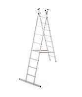2*9 секционная лестница алюминиевая(Уфук про), фото 1