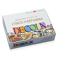 Краски акриловые DECOLA 12цв. 20мл стекло/керамика карт.уп. арт.4041114