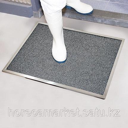 Коврик дезинфицирующий с лотком из нержавеющей стали 48x68 cm, фото 2