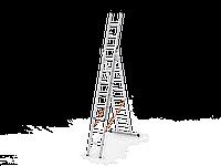 3*9 секционная лестница алюминиевая (Уфук про)