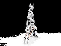 3*10 секционная лестница алюминиевая (Уфук про), фото 1