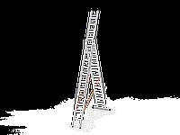 3*12 секционная лестница алюминиевая (Уфук про), фото 1