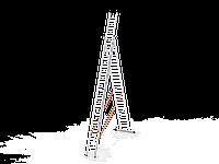 3*14 секционная лестница алюминиевая (Уфук про), фото 1