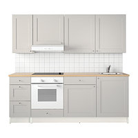 Кухня КНОКСХУЛЬТ серый 220x61x220 см ИКЕА, IKEA