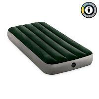 Intex Надувной матрас Dura-beam Standard, 76х191х25см, зелёный