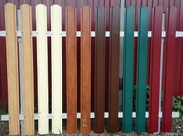 Забор металлический штакетник