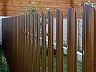 Забор металлический штакетник, фото 2
