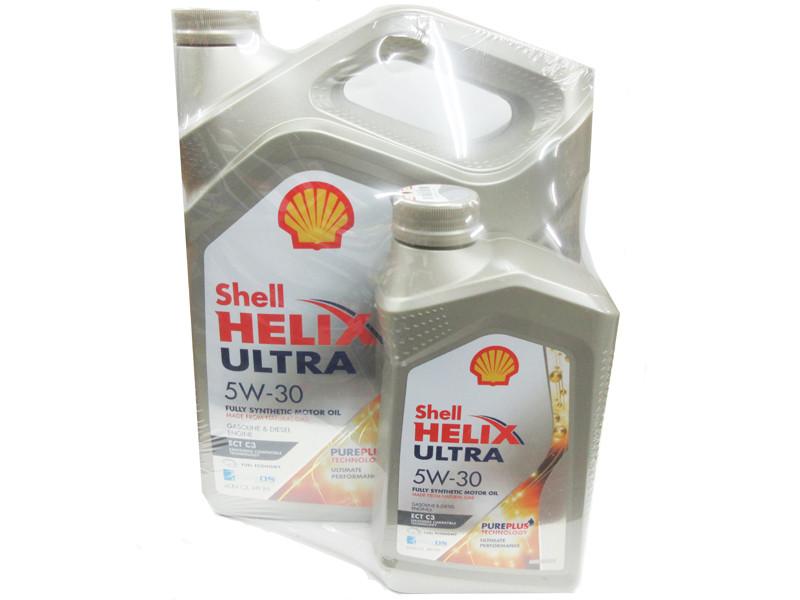 Shell Helix Ultra 5W-30 4L+1L в ПОДАРОК