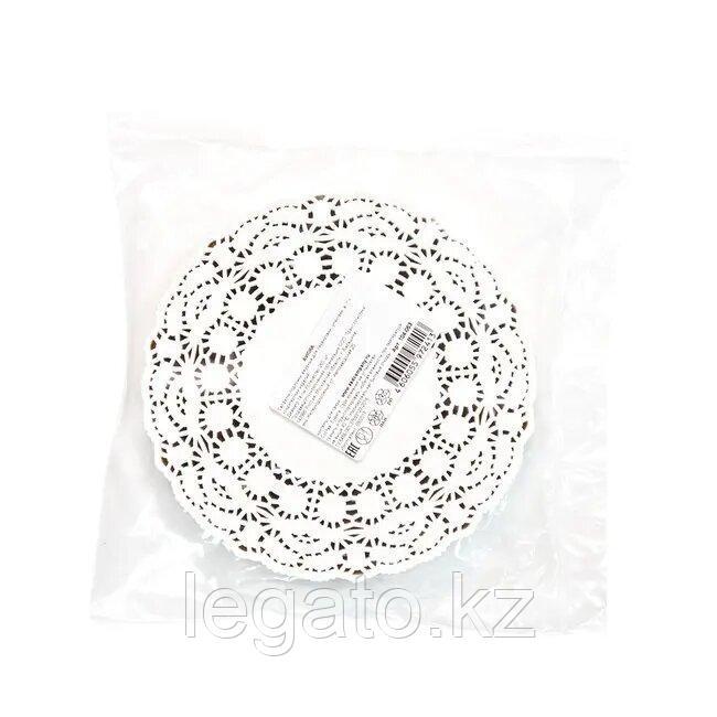 Ажурная салфетка сервировочная, круглая, диаметр 12 см