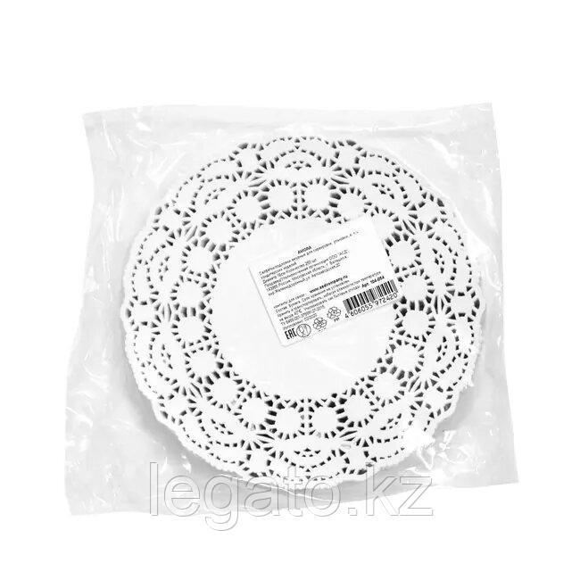 Ажурная салфетка сервировочная, круглая, диаметр 16 см