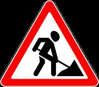 Знак дорожные работы 1.23