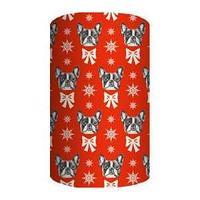 Non-branded Упаковочная бумага немелованная, Собачка с бабочкой, 70*100 см.