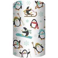 Non-branded Упаковочная бумага супергладкая, Пингвины, 70*100 см.