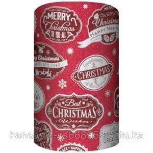 Non-branded Упаковочная бумага супергладкая, целлюлозная, Best Christmas, Wishes, 70*150 см.
