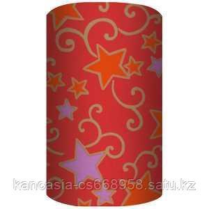 Non-branded Упаковочная бумага супергладкая, целлюлозная, повышенной плотности, Звёздные узоры, 70*150 см.