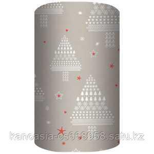 Non-branded Упаковочная бумага супергладкая, целлюлозная, повышенной плотности, Мозаичная Ель, 70*150 см.